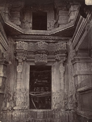 Close view of entrance and part of interior of Great Sasbahu Temple, Gwalior 10031448